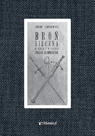 Broń sieczna - okładka książki