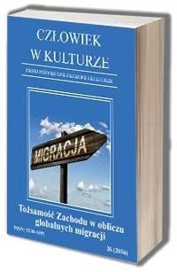 Człowiek w kulturze 262016. Tożsamość - okładka książki