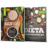 Dieta przeciwzapalna / Kaszoterapia. PAKIET - okładka książki