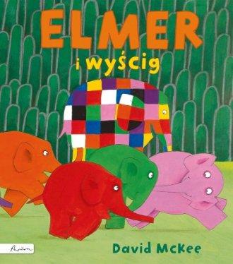 Elmer i wyścig - okładka książki