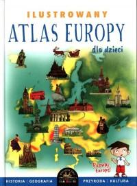 Ilustrowany atlas Europy - okładka książki