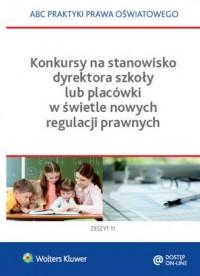 Konkursy na stanowisko dyrektora - okładka książki