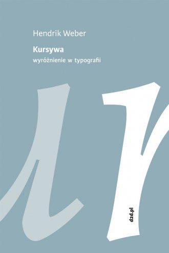 Kursywa. Wyróżnienie w typografii - okładka książki