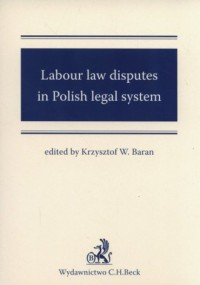 Labour law disputes in Polish legal - okładka książki