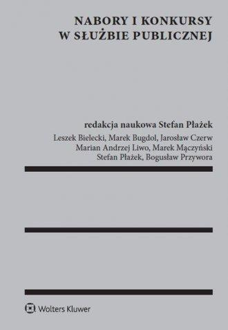 Nabory i konkursy w służbie publicznej - okładka książki