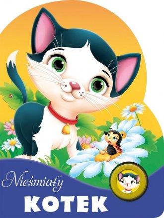 Nieśmiały kotek. Książeczka z przyciskiem - okładka książki