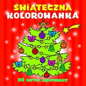 Świąteczna kolorowanka - okładka książki