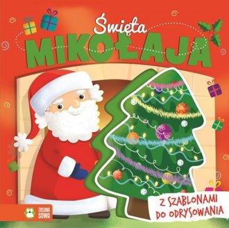 Święta Mikołaja. Książka z szablonami - okładka książki