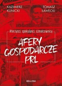 Afery gospodarcze PRL - okładka książki
