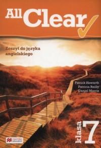 All Clear 7. Zeszyt do języka angielskiego - okładka podręcznika
