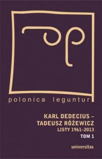 Karl Dedecius - Tadeusz Różewicz. - okładka książki