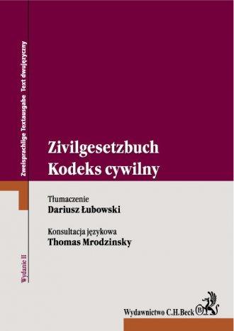 Kodeks cywilny Zivilgesetzbuch - okładka książki