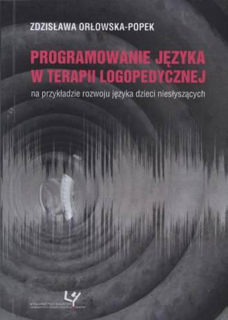 Programowanie języka w terapii - okładka książki