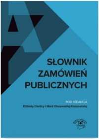 Słownik zamówień publicznych - okładka książki