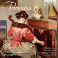 Telemann 6 violin sonatas frankfurt - okładka płyty