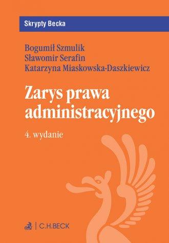 Zarys prawa administracyjnego. - okładka książki
