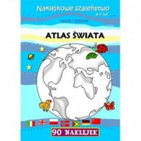 Atlas świata. Naklejkowe szaleństwo - okładka książki