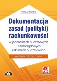 Dokumentacja zasad (polityki) rachunkowości - okładka książki
