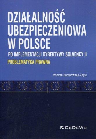 Działalność ubezpieczeniowa w Polsce - okładka książki