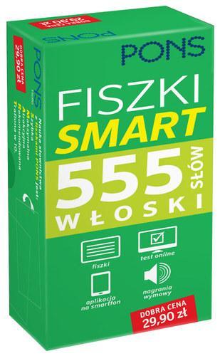 Fiszki. Smart 555 słów. Włoski - okładka podręcznika