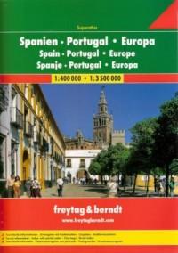 Hiszpania., Portugalia, Europa. Atlas 1:400 000 / 1:3 500 000 - okładka książki