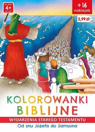 Kolorowanki biblijne. Wydarzenia - okładka książki