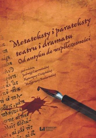 Metateksty i parateksty teatru - okładka książki
