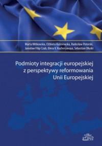 Podmioty integracji europejskiej - okładka książki