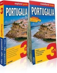 Portugalia 3w1 Przewodnik+atlas+mapa - okładka książki