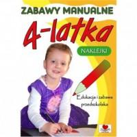 Zabawy manualne 4-latka - okładka książki