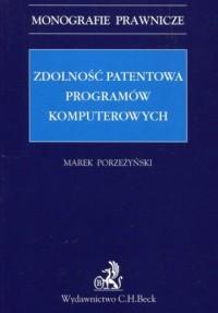 Zdolność patentowa programów komputerowych. - okładka książki