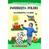 Zwierzęta Polski na podwórki i w lesie. Naklejkowe szaleństwo - okładka książki