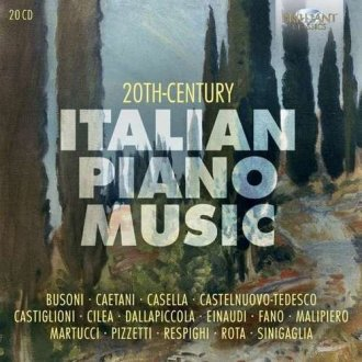 20Th Century Italian Piano Music - okładka płyty