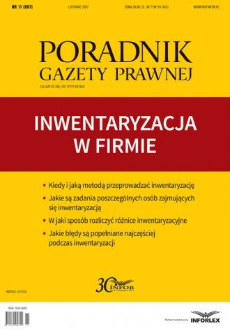 Poradnik Gazety Prawnej 11/2017. - okładka książki