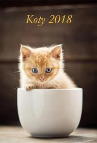 Kalendarz 2018 wieloplanszowy Koty - okładka książki