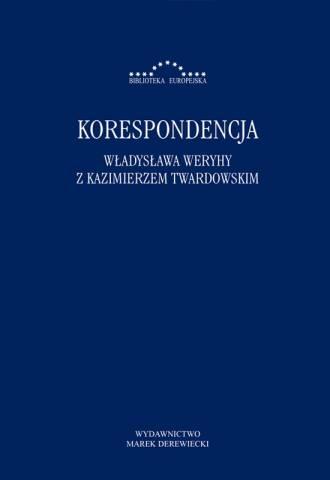 Korespondencja Władysława Weryhy - okładka książki