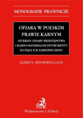 Ofiara w polskim prawie karnym. - okładka książki