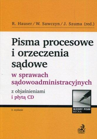 Pisma procesowe i orzeczenia sądowe - okładka książki