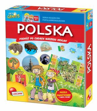 Polska + puzzle - okładka książki