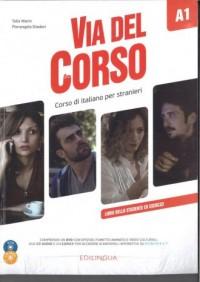 Via del Corso A1 podręcznik (+ 2 CD + DVD) - okładka podręcznika