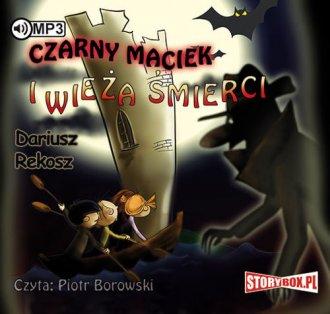 Czarny Maciek i wieża śmierci - pudełko audiobooku