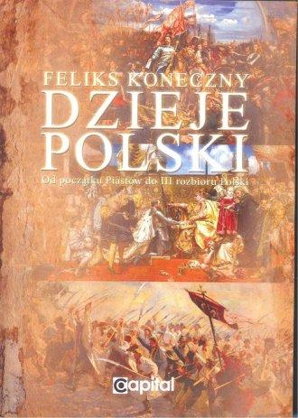 Dzieje Polski od początku Piastów - okładka książki
