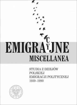 Emigracyjne miscellanea. Studia - okładka książki