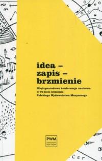 Idea - zapis - brzmienie. Międzynarodowa konferencja naukowa w 70-lecie istnienia Polskiego - okładka książki
