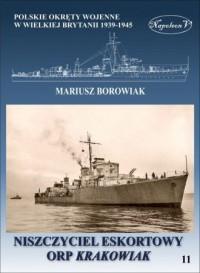 Niszczyciel ORP Krakowiak - okładka książki