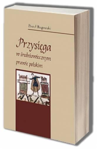 Przysięga w średniowiecznym prawie - okładka książki