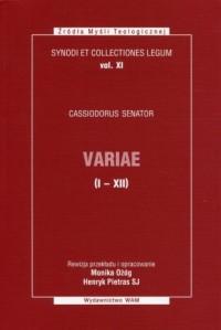 Variae Księgi I-XII. Synody i kolekcje - okładka książki