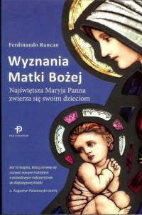 Wyznania Matki Bożej - okładka książki