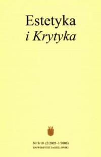 Estetyka i Krytyka nr 910 (22005-12006) - okładka książki