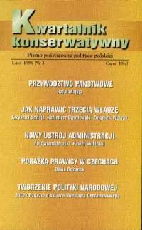 Kwartalnik Konserwatywny nr 3 (lato) 1998 - okładka książki